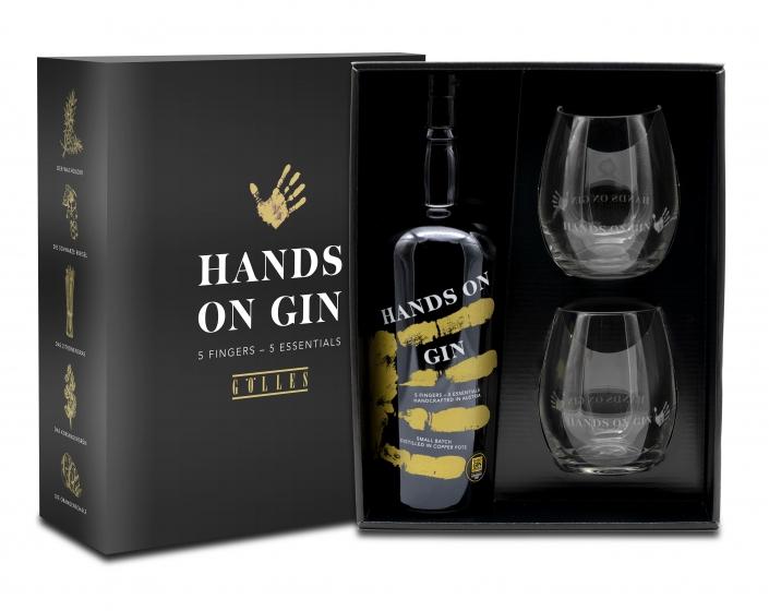 Hands On Gin mit Gläser